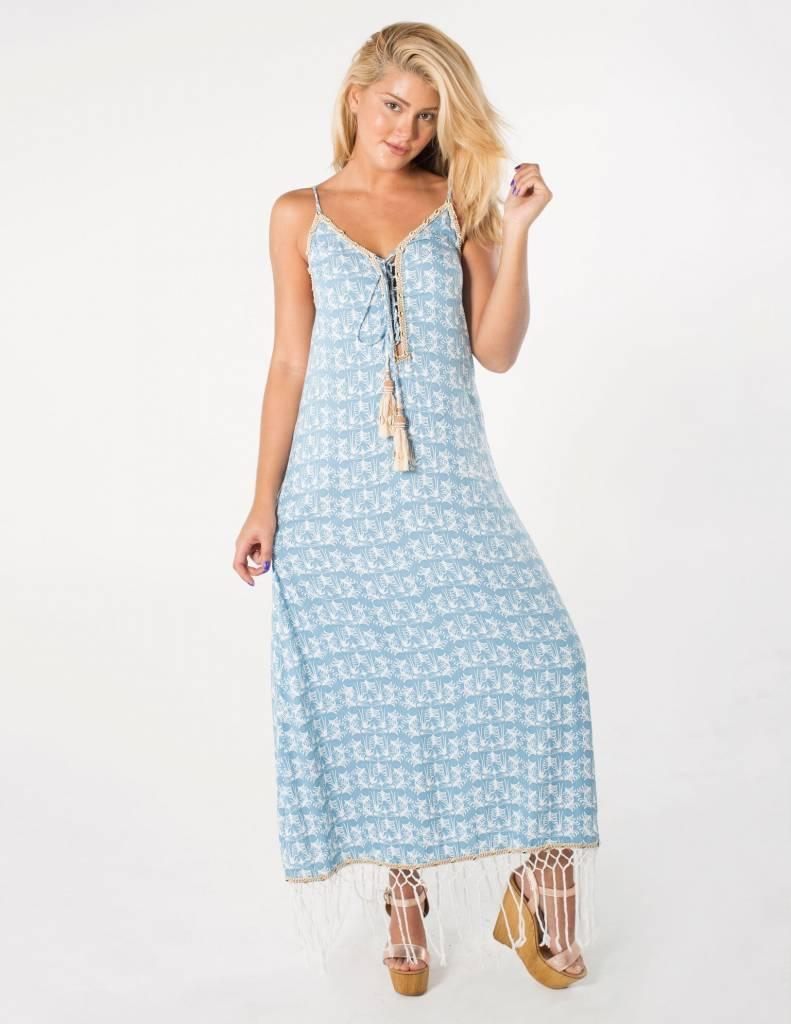 SKEMO Palm Tree Maxi Dress