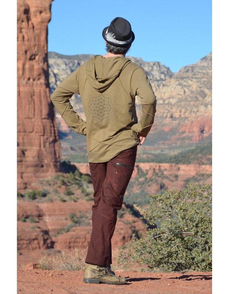 MahaDevi Mens Meta LongSleeve Hoodie (Cypress Green) XL