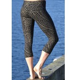 MahaDevi Malaya Yoga Tights Gold Leaf