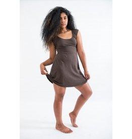 Sweet Skins Scoop Neck Tank Dress Wood (M)