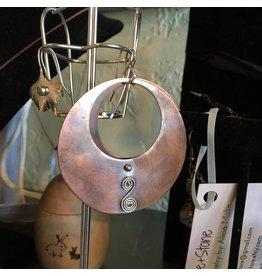 Black Moon Metals Copper Hoop Earrings with Spiral