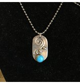 Black Moon Metals Dog Tag Turquoise Necklace