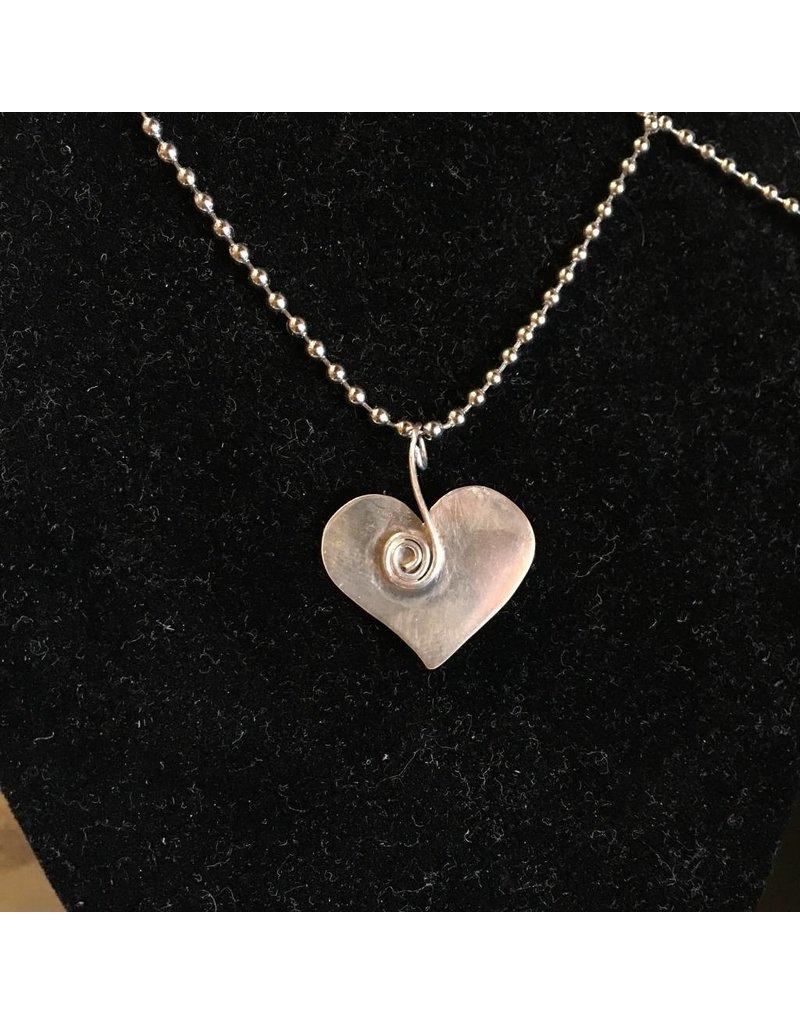 Black Moon Metals Heart Copper Rivets Necklace