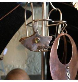 Black Moon Metals Small Ginko Peridot Earrings