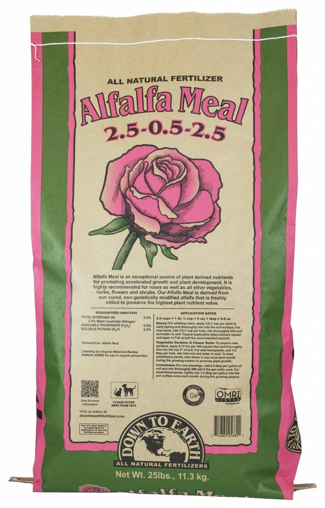 Down to Earth Distributors ALFALFA MEAL 2.5-0.5-2.5  25LB