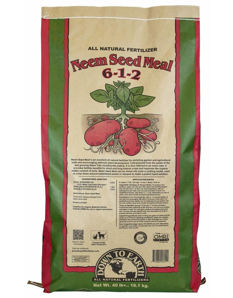 Down to Earth Distributors NEEM SEED MEAL  6-1-2  40LB