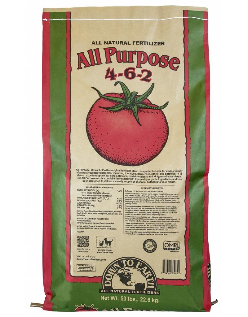 Down to Earth Distributors ALL PURPOSE MIX 4-6-2   50LB