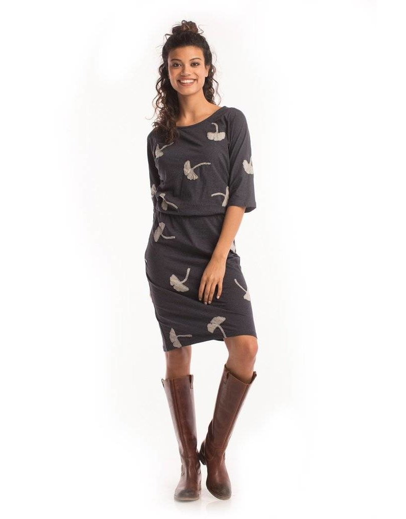 Synergy Ginkgo Gallery Dress Ink XS