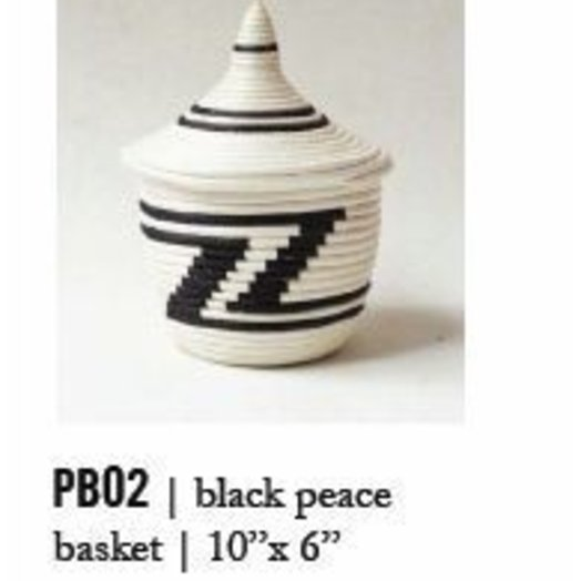 Indego Africa Black and White Peace Basket