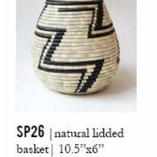 Indego Africa Lidded Basket
