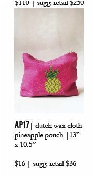 Indego Africa Pineapple Pouch