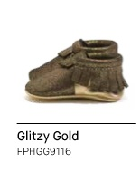 Freshly Picked Glitzy Gold - Holiday 16 - Moccasins - Size 1