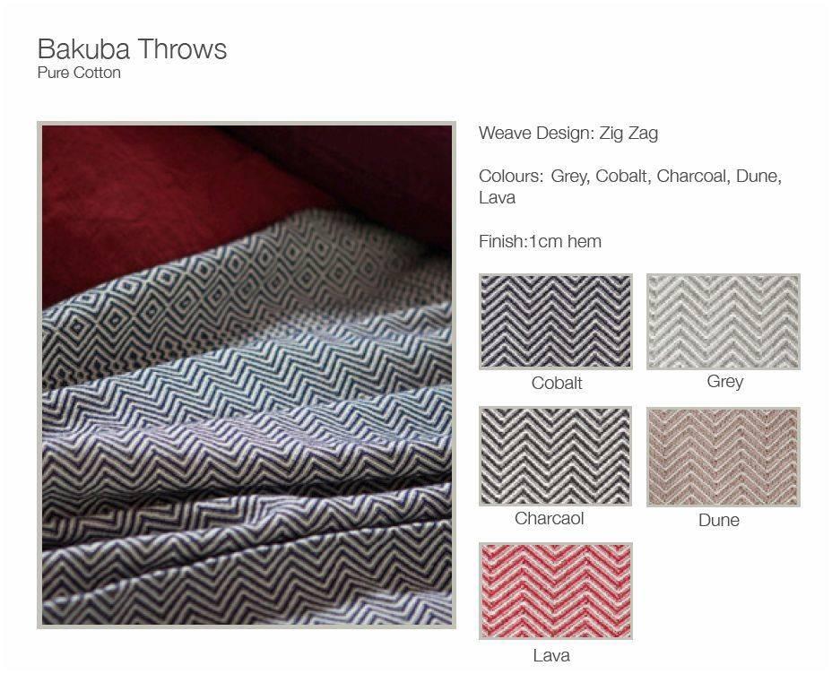 Mungo Throw Cotton Bakuba 62 X 69 Charcoal