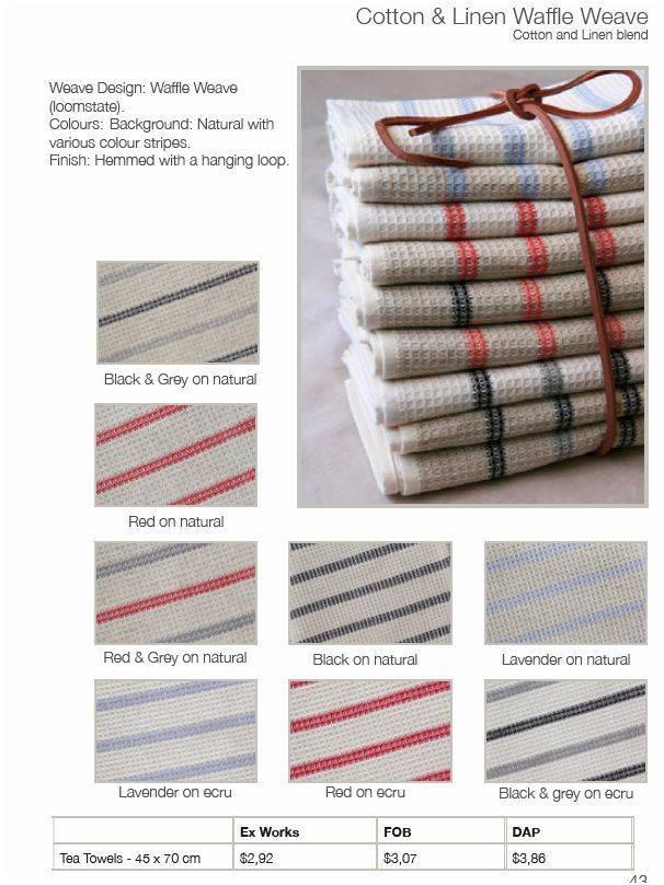 Mungo Kitchen Towel C&L Honeycomb Natural, Grey and Black