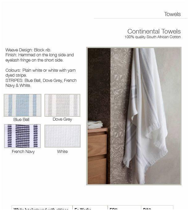 Mungo Bath Towel Cotton Blockrib 34 x 65 inches Blue