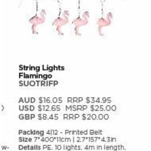 Sunnylife Flamingo String Lights