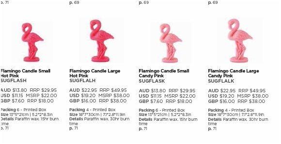Sunnylife Large Flamingo Candle Candy Pink