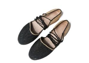 Lido Raffia Espadrilles Solid Size 38