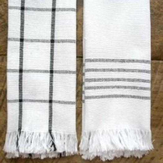 Mexchic Lunar Napkin Set of 4 21 x 15 inches Grey Stripes