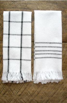 Mexchic Lunar Napkin Set of 4 21 x 15 inches Black Stripes