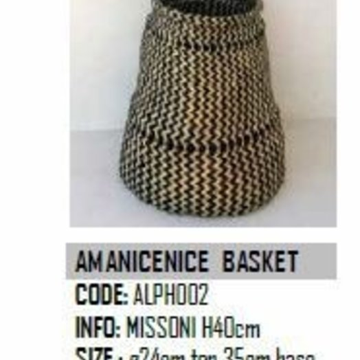Design Afrika Am Anicenice Basket ALPH002 Missoni 9 x 14 inches