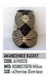 Design Afrika Am Anicenice Basket ALPH002B Houndstooth