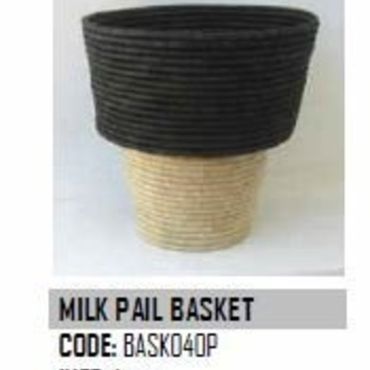 Design Afrika Milk Pail Basket BASK040P 16 x 7 inches