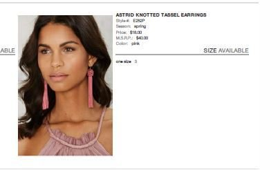 Vanessa Mooney Astrid Knotted Tassel Earrings Pink
