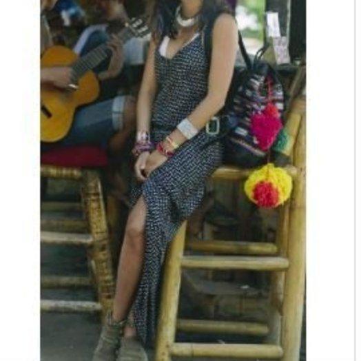 Sydny Luca Slip Maxi Dress Black Polka Dot