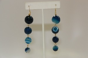 Kenneth Jay Lane Blue Agate Earring