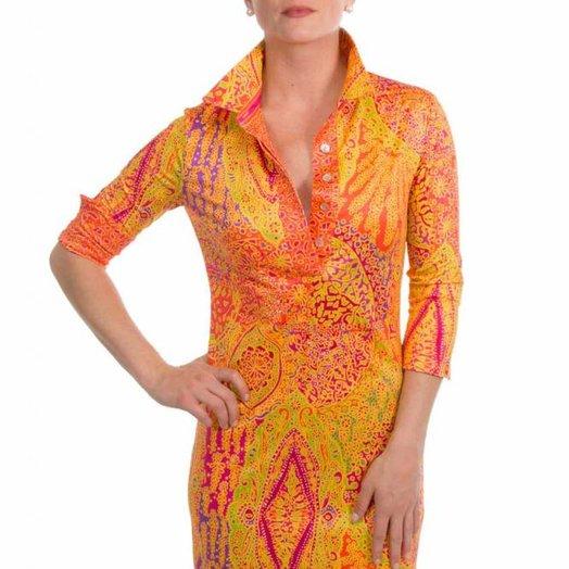 Gretchen Scott Everywhere Jersey Dress - Grand Bazaar Corals