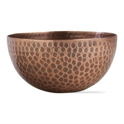 Tag copper bowl
