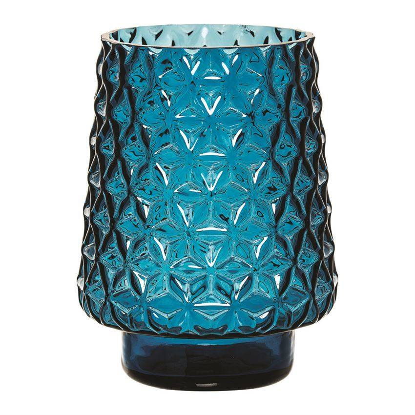 "Bloomingville 7-3/4"" Glass Vase Blue"