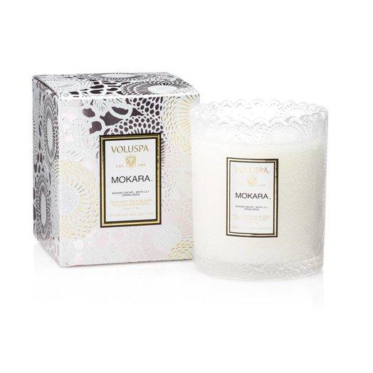 Voluspa Japonic Limited Mokara Boxed Scalloped Candlepot