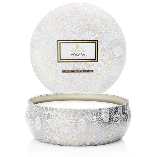 Voluspa Japonica Limited Mokara 3 Wick Candle in Decorative Tin