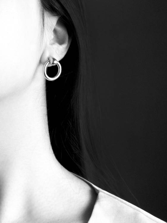 Common Muse Odette Hoop Earrings, Silver