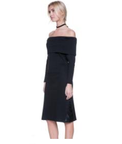 After Market Debbie Over the Shoulder Dress