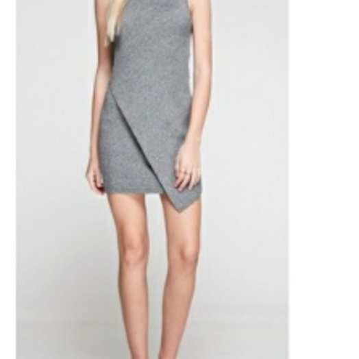 Babel Grey Mock Neck Dress