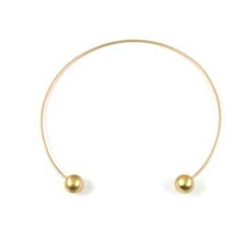 Baleen Sphere Cuff Necklace
