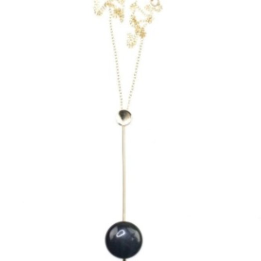Baleen Pendulum Drop Earring Black Lava