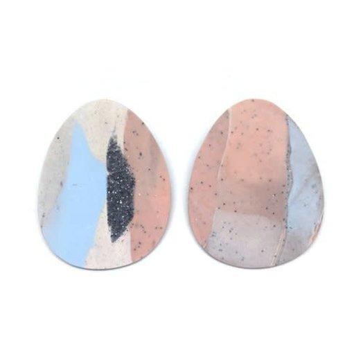 hello zephyr Blue  Earrings