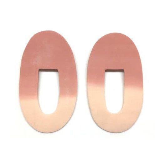 hello zephyr Salmon Earrings