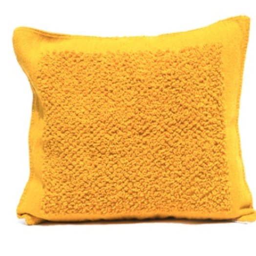 Mexchic X-large Floor Pillow in Boucle Cotorin Texture Ochre  Wool