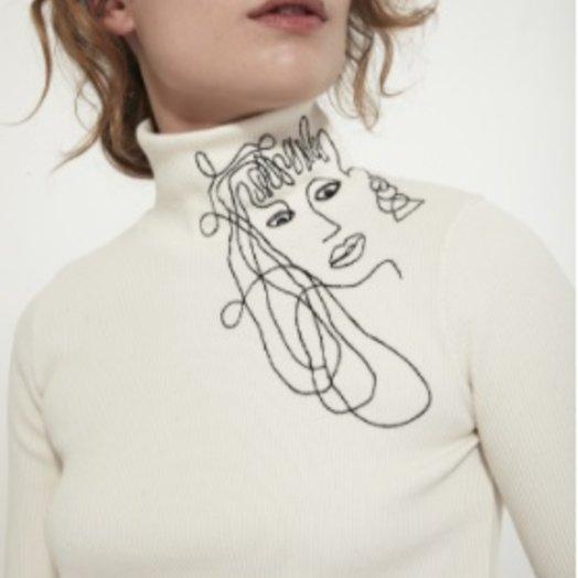 Mr Larkin Embroidered Pippa Top