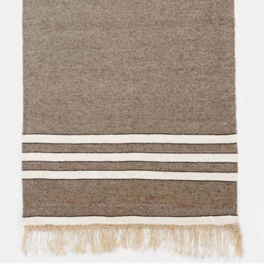 Mexchic Handloomed Wool Blanket - Charcoal