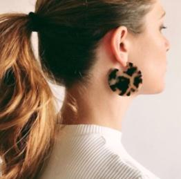 Machete Clare Earrings in Noir Tortoise