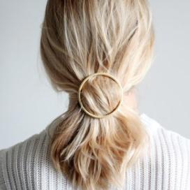 Machete Gold Hair Clips