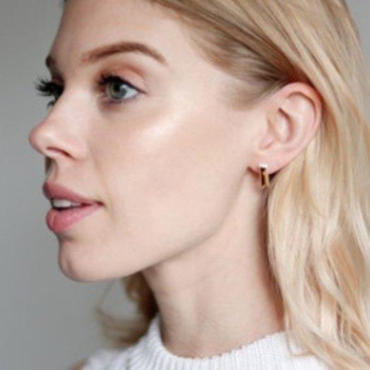 Machete Gold Porcelain Line Earrings