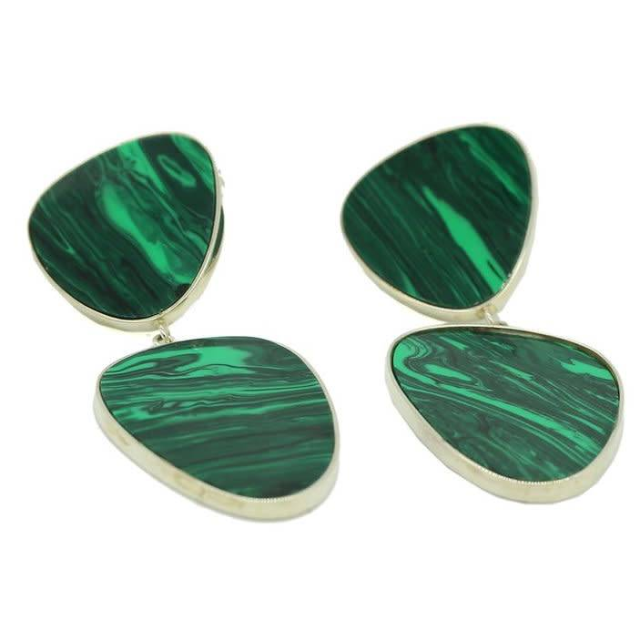 gala is love Aurora Earrings Malachite