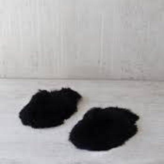 The Great Eros Cirrus Alpaca Slippers in Black